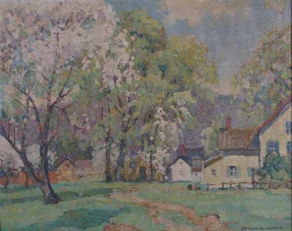 spring landscape by arthur j. beaumont