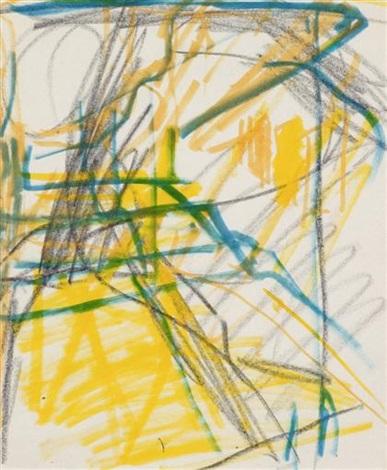 st pancras steps by frank auerbach