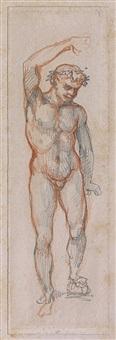 etude pour un bacchus by théodore géricault