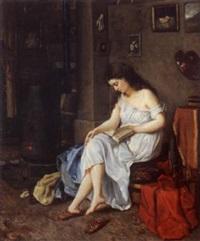 modèle dans l'atelier du peintre by alexandre de gassowski