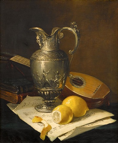 tabletop still life by antoine vollon