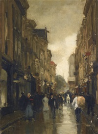 figures in the spuistraat, the hague by floris arntzenius