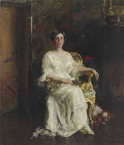 portrait of a lady mrs eldridge reeves johnson by william merritt chase