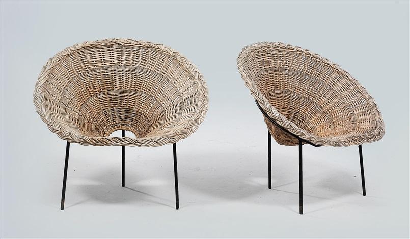 Basket Chairs (pair) By Roberto Mango