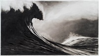 study for black wave by robert longo