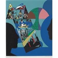 sheet 29 3/4 x 22 inches; 756 x 559 mm by romare bearden