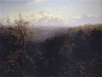 blick auf den daulaghiri (8167m) in der himalaja kette by alexander scott