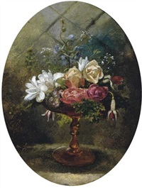 still life of flowers in a tazza by lilly martin spencer
