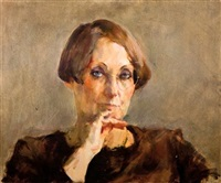portrait of the artist's mother by amnon david ar