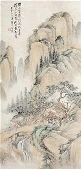 青绿山水 (landscape) by xu xiaochun