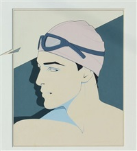 swimmer by patrick nagel