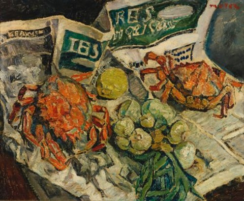 still life with crabs by maria mela muter
