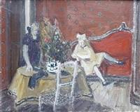 lecture sur le divan rouge by edouard-georges mac-avoy