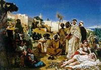les marchands d'esclaves au faubourg babazoun à alger by ernest francis vacherot