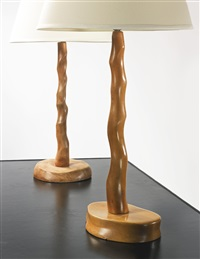 two table lamps by alexandre noll