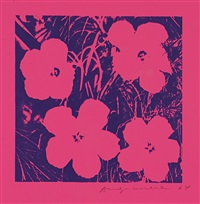 flowers (on pink paper) by andy warhol