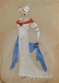 femme en costume (study) by marcel vertès