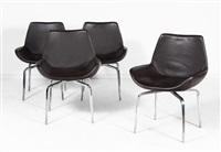 suite de quatres chaises modèle archetto by mauro lipparini