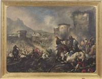 battaglia sotto le mura di una città by jacques courtois