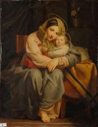 vierge à l'enfant ou affection et repos by françois joseph navez