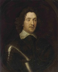 portrait of a gentleman in armor and a lawn collar by william dobson
