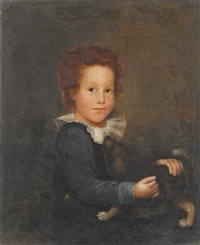 portrait of a young boy and dog, possibly manuel lisa (1772-1820) by american school (18)