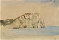 vue des falaises d'etretat by eugène delacroix