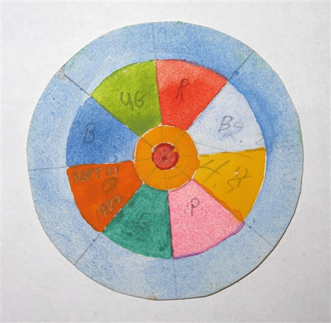 a circle of eight equal sections by greg curnoe on artnet