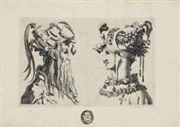 diverses coiffures d'hommes et de femmes pour des ballets, d'après maitre rous (set of 12 works) by rené boyvin