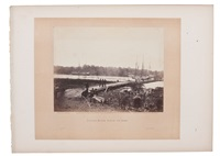 pontoon bridges and a pontoon boat (3 works) by alexander gardner