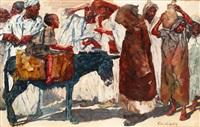 la dispute au marché by erich wolfsfeld