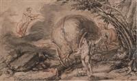 hercule apparaissant devant un paysan by jean-baptiste coulom