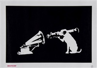 hmv dog by banksy