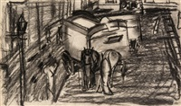 study for moving vans (b) by david bomberg