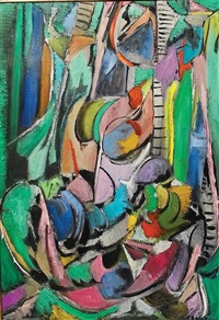 abstract composition by andré lanskoy