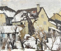 hinterhof im winter by carl roesch