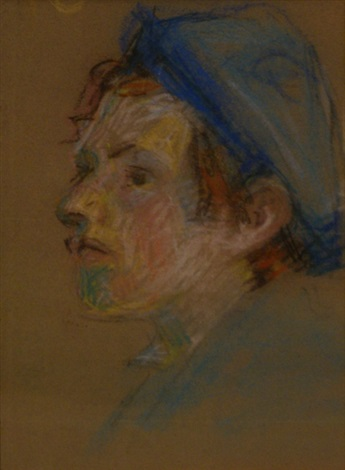 head of a youth by john peter russell