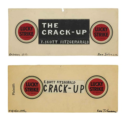 untitled f scott fitzgerald lucky in 2 parts by ray johnson
