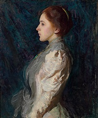 mercie in profile by edmund charles tarbell