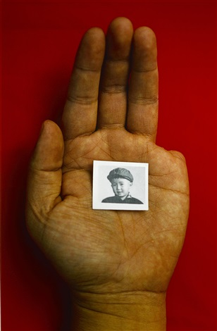 my left hand with the artist as a boy by sheng qi