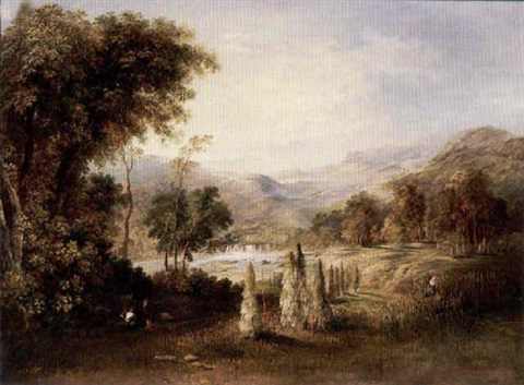 figures working in a river valley by robert scott duncanson