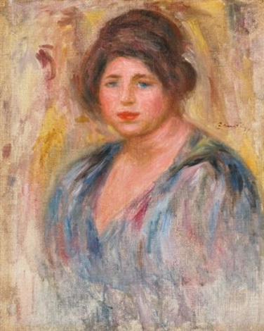 portrait de femme gabrielle renard by pierre auguste renoir