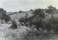 a cornfield near travalyn, cornwall by wiggs kinnaird