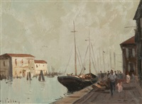 harbour scene by roy petley