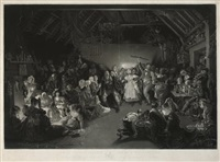 snap apple night or all hallow eve (after daniel maclise) by james scott