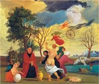 szent antal megkísértése - the temptation of saint anthony by janos duschanek