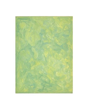 untitled abstraction in green by beauford delaney