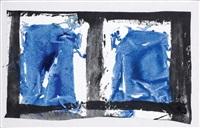 sans titre (série des tabula) by simon hantaï