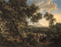 christ on the road to emmaus by johann samuel hoetzendorf