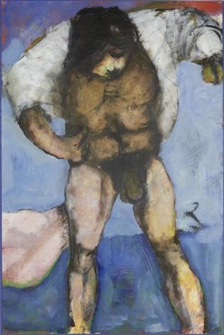 man undressing by douglas portway